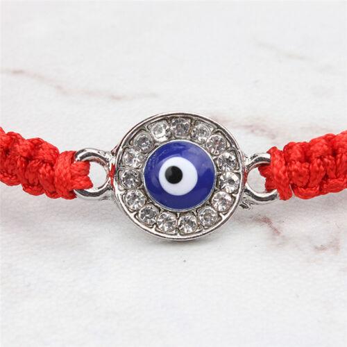 La main de corde rouge StringBracelet Palm oeil pendentif Bracelet fil chanc Hf