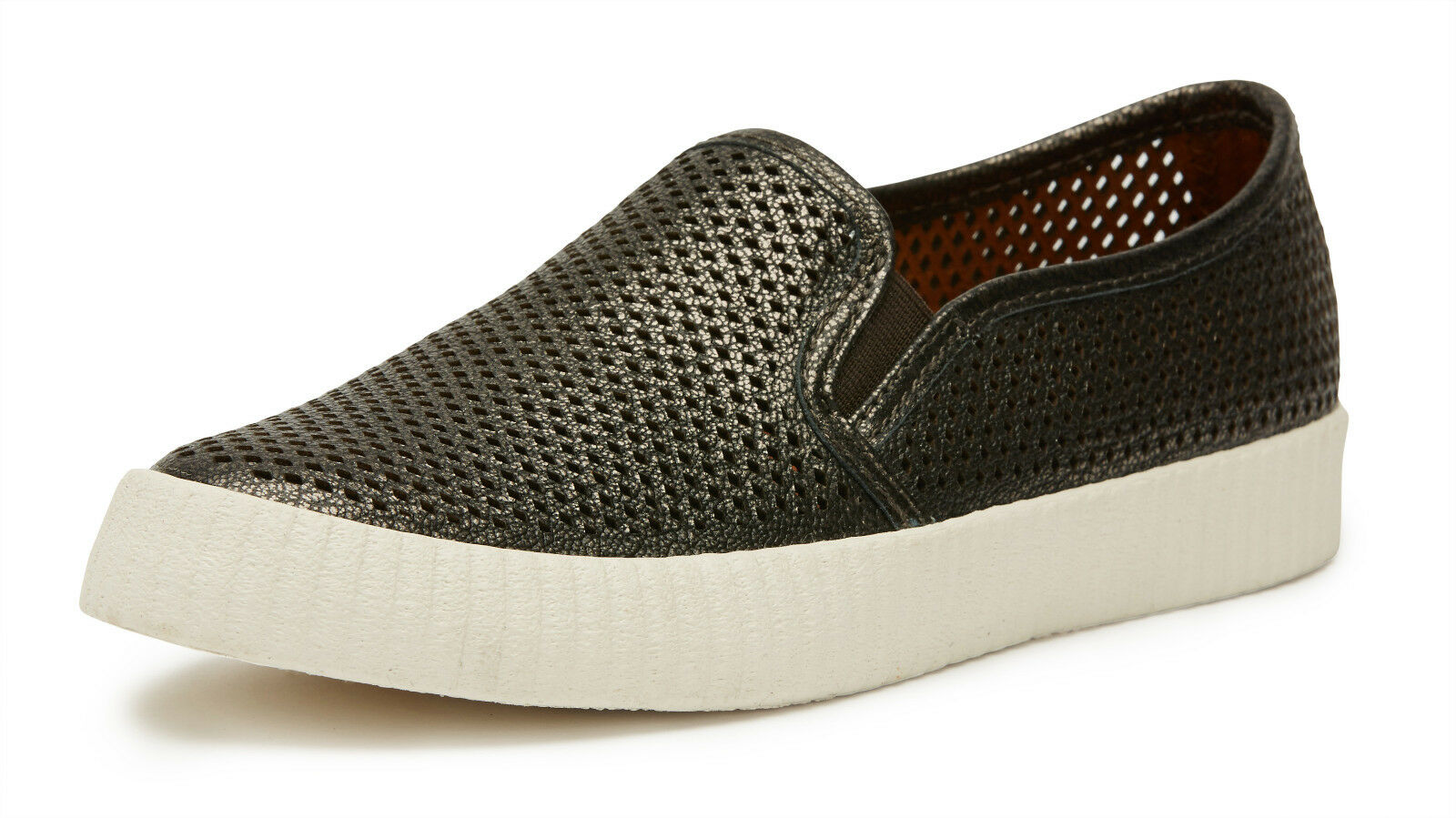 FRYE CAMILLE PERFORATED LEATHER scarpe da ginnastica IN PEWTER