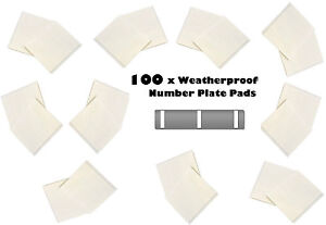 6 x number plate double sided sticky pad thick weatherproof pads 15X50X1MM