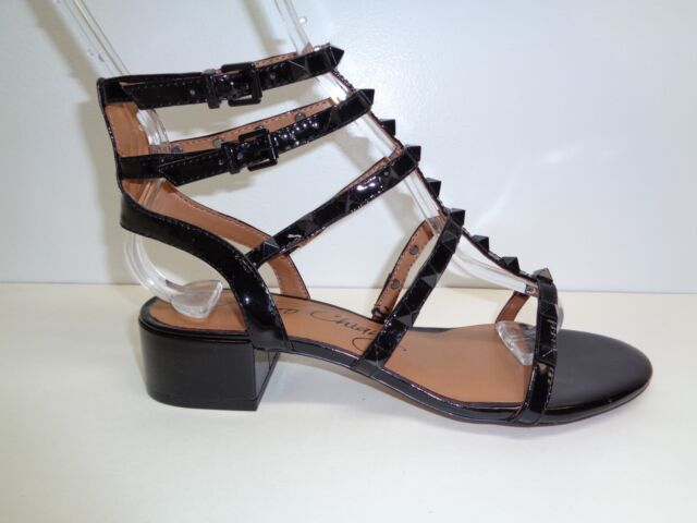 2c8c0ff9eb12 Arturo Chiang Size 6 M JAIN Black Leather Studded Sandals New Womens Shoes