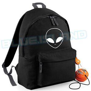Image Is Loading Alien Backpack Bag Ufo Hipster Love Swag