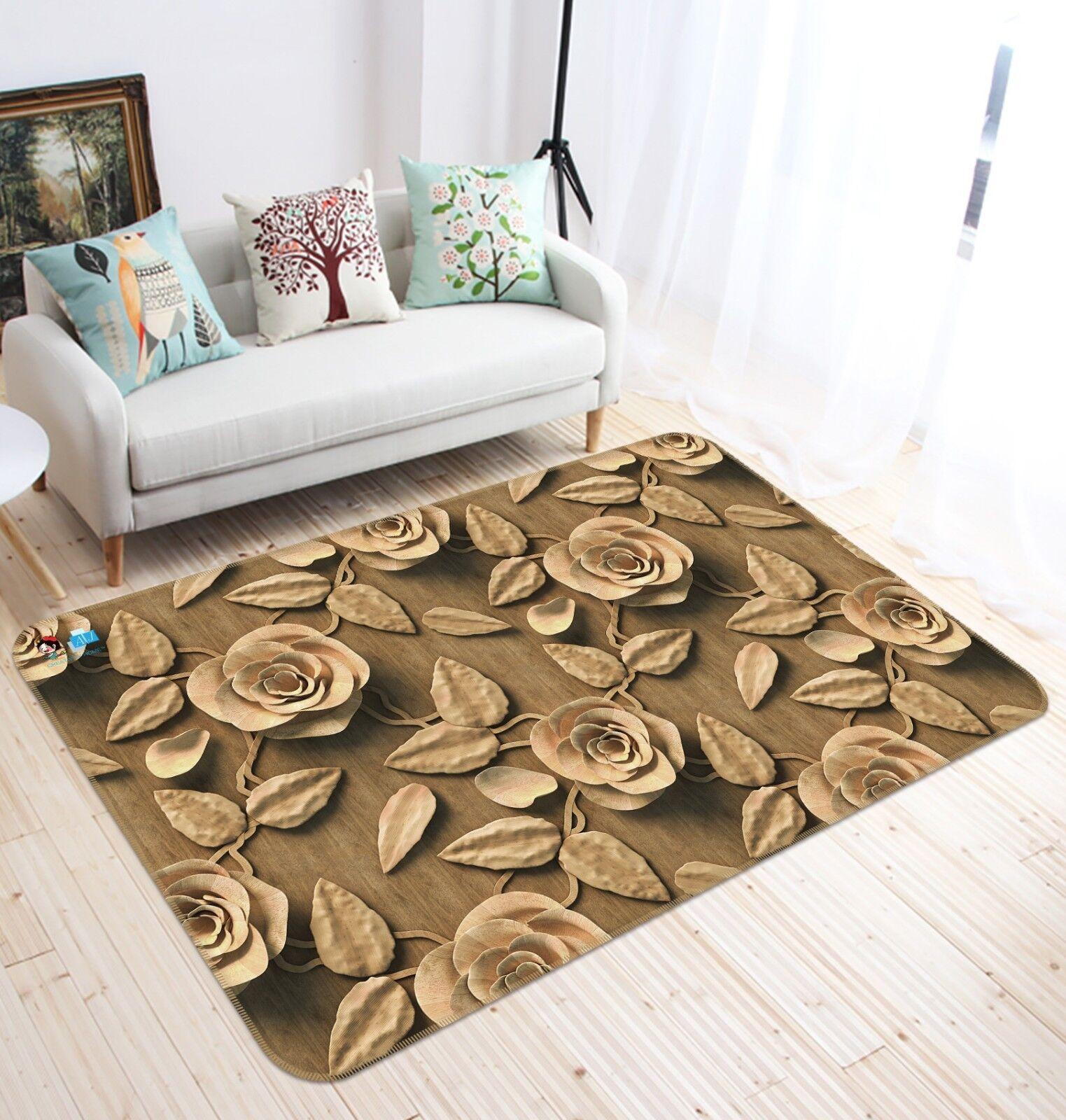 3d Retro Fiore immagine 9 antiscivolo tappeto tappetino bagagliaio tappeto elegante de