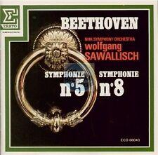 BEETHOVEN symphonie 5 &8 op.67 CD sawallisch nhk ERATO ECD 88043 west germany