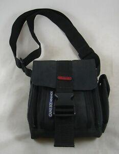 Nintendo GameBoy Advanced Black & Red Padded Carry Bag Organizer Shoulder Strap