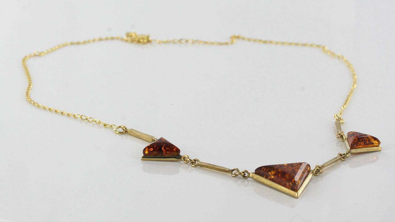 ITALIAN Made Naturale Baltic Amber Collana Collana Collana in oro 9ct-GN0008 a804fd