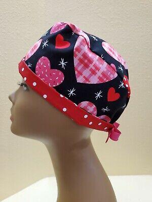 Little Daisies Women/'s Skull//Chemo Surgical Scrub Hat//Cap Handmade