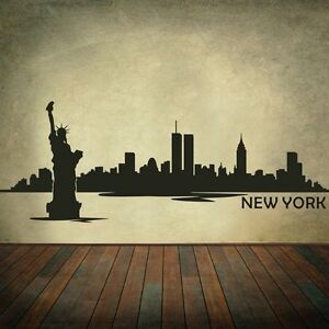 New York City Silhouette Wall Decal Nyc Skyline Removable
