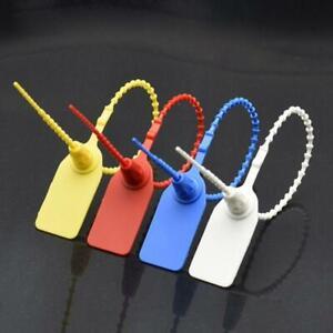 100Pcs Disposable Plastic Pull-Tite Security Seals Signage Self Locks