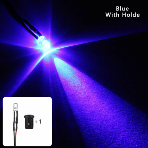 Bulb Round 20cm Cable 12V multi-color Pre-Wired Emitting Diode 5mm LED Light