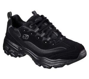 Shoes-D-039-Lites-Sneaker-Men-039-s-52675-BBK-Black-Skechers-Memory-Foam-Leather-Casual