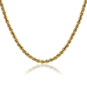 14K-Gold-Rope-Chain-3-00mm-16-034-18-039-039-20-034-22-034-24-034-30-039-039-Unisex-Lobster-New