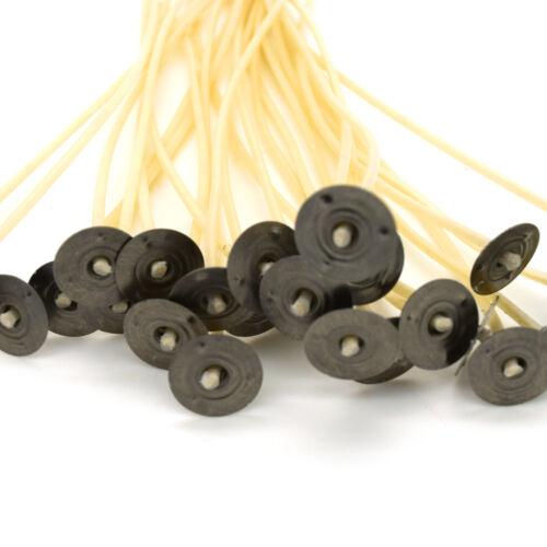 Set 100 Pcs de bougie mèches-pré ciré SUSTAINERS-longueurs mixtes-Crème S8