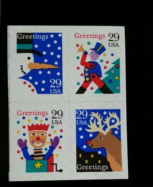 1993 29c Christmas Designs, Block of 4, SA Scott 2799-2