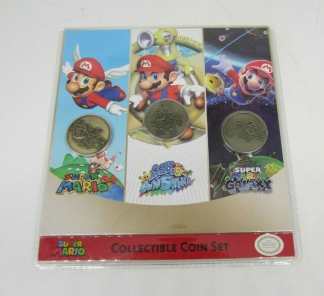 New! Sunrise Identity - Nintendo 3pc Mario Collectible Coin Set (READ)