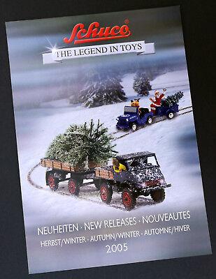 """Schuco Prospetto """"the Legend In Toys Novità Autunno/inverno 2005"""", 8 Pagine-mostra Il Titolo Originale Con Le Attrezzature E Le Tecniche Più Aggiornate"""