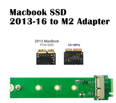 PCI-e Adapter Converter 2013//14//15 MacBook Air Pro 12+16 Pins SSD to M.2 NGFF