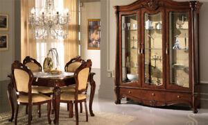 Das Bild Wird Geladen Vitrine Vitrinenschrank Wohnzimmerschrank Drei Tueren Nussbaum Italienische Moebel