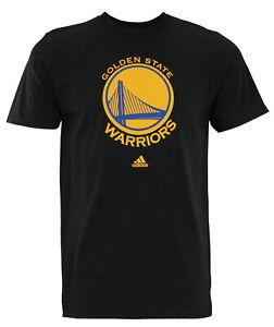 Adidas-NBA-Men-039-s-Golden-State-Warriors-Primary-Logo-T-shirt-Black