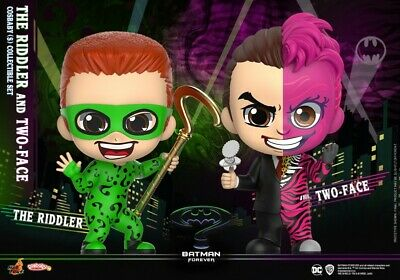 Hot Toys COSB720 The Riddle /& Two-Face Batman Forever COSBABY Figure Collectible