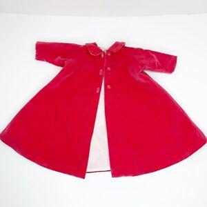 RARE-Vintage-Madame-Alexander-CISSY-Rose-Velvet-Coat-from-1955