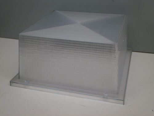 "10-3//4/"" x 10-3//4/"" x 5/"" Square Clear Pristmatic Light Fixture Lens Cover Diffuser"