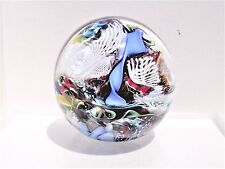 """Vtg Murano Glass Paperweight End Of Day Jumble Lattice Millefiori 3"""" Free S/H"""