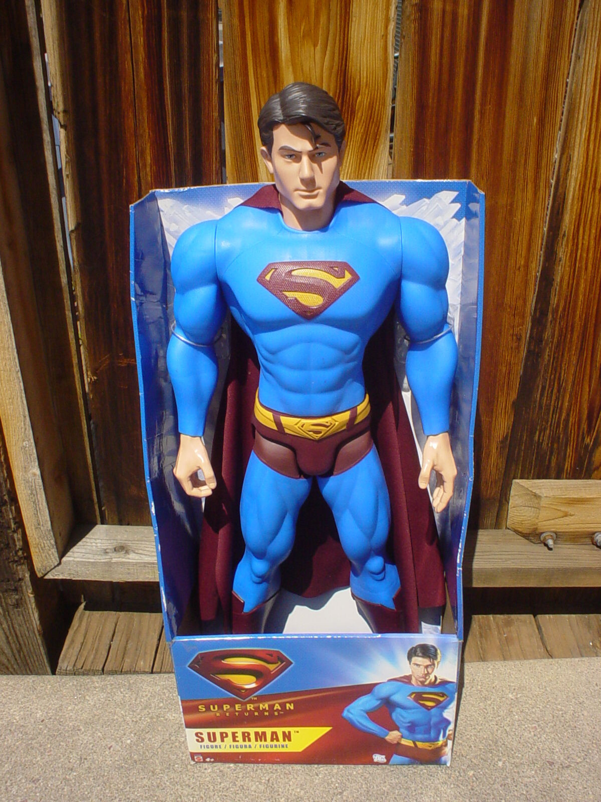 NEW Extra Large SUPERMAN Action Figure Doll MARVEL  30  TALL  NEW IN BOX