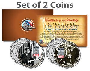 CIVIL-RIGHTS-ACT-OF-1964-50th-Anniversary-JFK-Kennedy-Half-Dollar-US-2-Coin-Set
