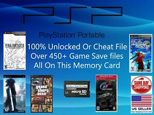Unlocked Psp Save Collection 450 Saves 100 Completed Cheat Final Kingdom Gta Ebay