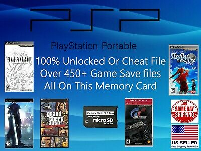 Unlocked Psp Save Collection 450 Saves 100 Completed Cheat Final