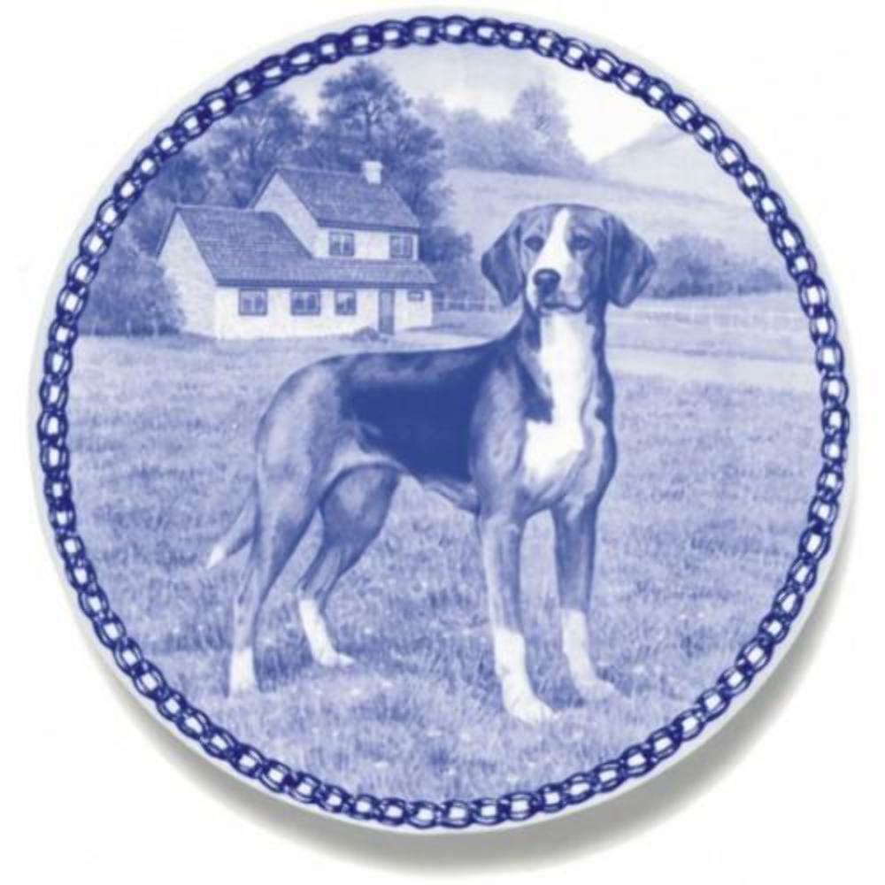 Hamilton Hound  Dog Plate made in Denmark from the finest European Porcelain