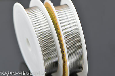 Silver/Gold/Colorized Plated Copper Jewelry Craft Finding Wire Cord 0.2~1mm Size