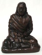 "Jesus Christ Statue in Meditation - 3.5"" Bronzetone Effect Statue of Jesus"