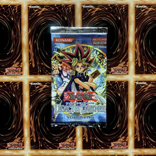 GUARANTEED UNWEIGHED YuGiOh Legacy Of Darkness 1st Edition Booster Pack