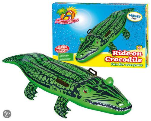Summertime Krokodile Kinder Wasserspaß Ride on Crocodile  2 Luftkammern 145x47 c
