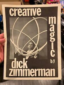 CREATIVE-MAGIC-Dick-Zimmerman-Magician-1973-Self-Published-Rope-Trick-Coin