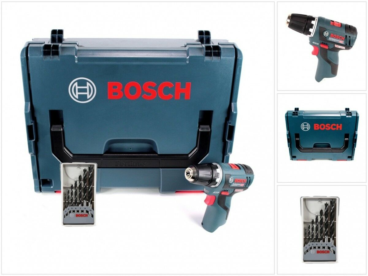 Bosch GSR 12V-20 Professional Akku brushless Bohrschrauber + 1 x Holzbohrer Set