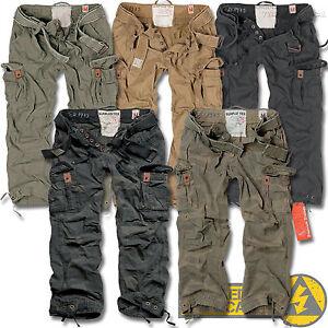 Surplus Premium Deluxe Mens Combat Cargo Trousers, Camo Army ...
