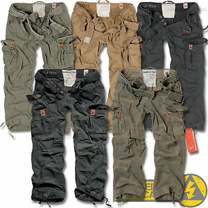 Surplus-Premium-Deluxe-Mens-Combat-Cargo-Trousers-Camo-Army-Military-Work-Pants