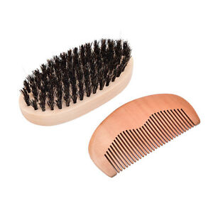 Men-039-s-boar-bristle-beard-brush-and-comb-beard-comb-grooming-kit-brush-com-UK