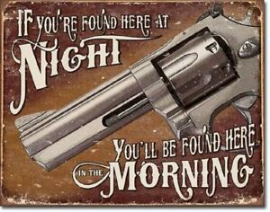 Smith Wesson Spoken Here Metal Ad Sign Western Picture Home Bar Cave Decor Gift
