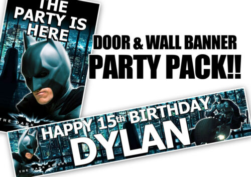 Batman Birthday Door Banner and personalised wall banner