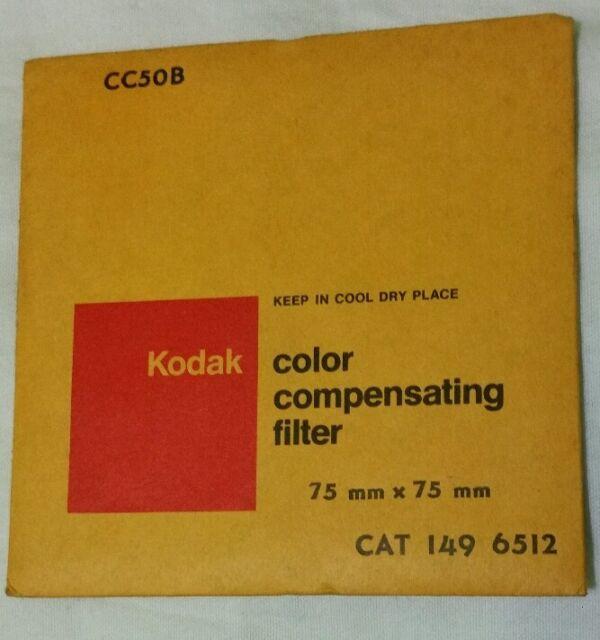 Kodak Wratten CC20B 75mm x 75mm Kodak Wratten Gelatin Filter