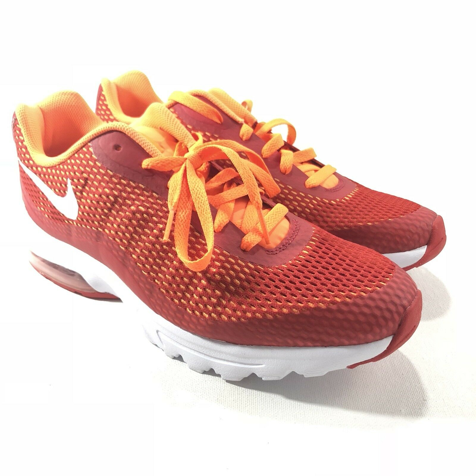 Nike Mens Air Max Invigor SE Running Shoes Red Orange White 870614-601 Size 11