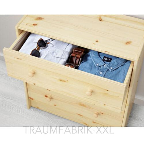 CASA DE CAMPO Cómoda con 3 cajones pino madera maciza Muebles ropa ...