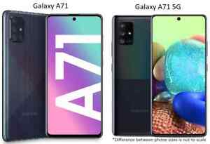 Samsung Galaxy A71 / A71 5G - 128GB AT&T ONLY or GSM Unlocked Smart Cell Phone