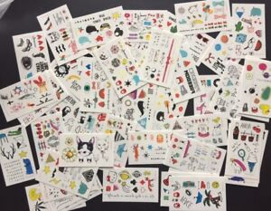 MIXED-15-X-Kawaii-Temporary-Tattoos-Stickers-Fun-Party-Favour-GiftLolly-loot-bag
