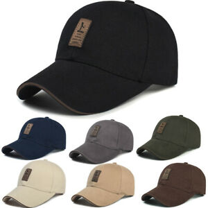 Men-Plain-Washed-Cap-Style-Cotton-Adjustable-Baseball-Cap-Blank-Solid-Golf-Hat