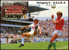 Football Maxicard 1986, Hungary V USSR, Handstamped #C26412