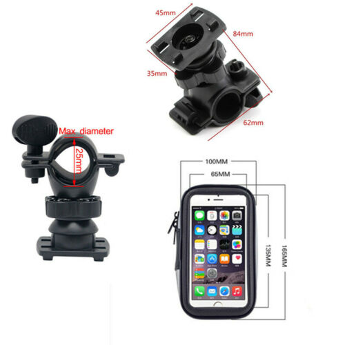 5.5in Waterproof Motorcycle Phone Case Mount Holder GPS Devices CellPhone Bag